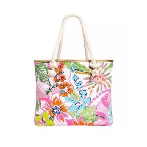 Lilly Pulitzer x Target Nosie Posey Rope Tote Bag